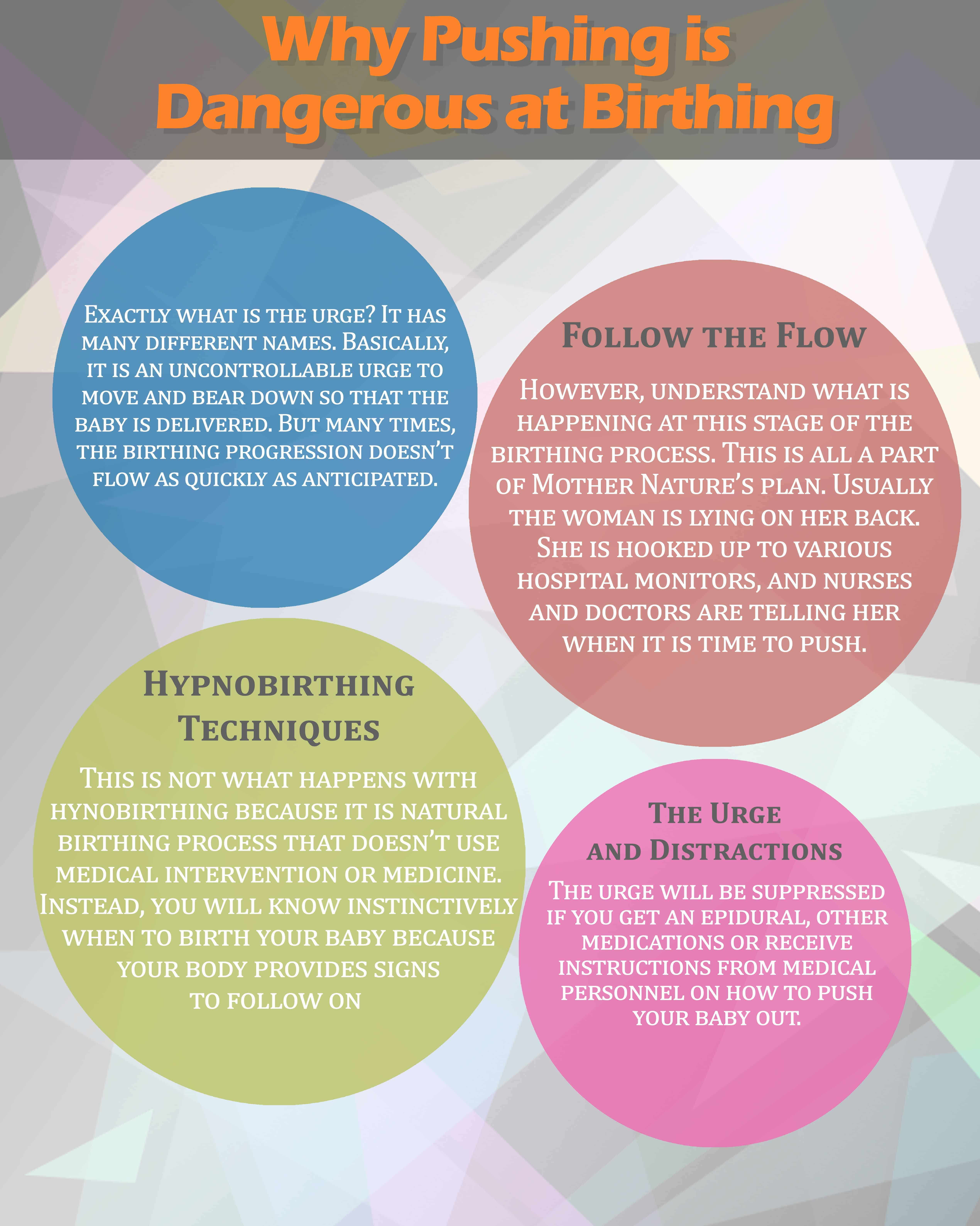 Why Pushing is Dangerous at Birthing Infographics