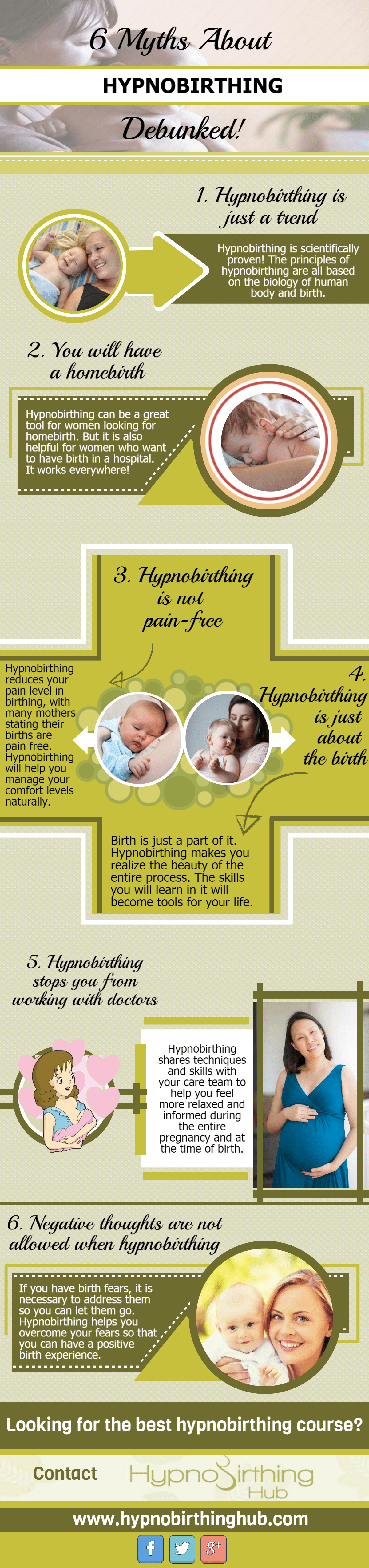 6 Myths About Hypnobirthing Debunked Infographic
