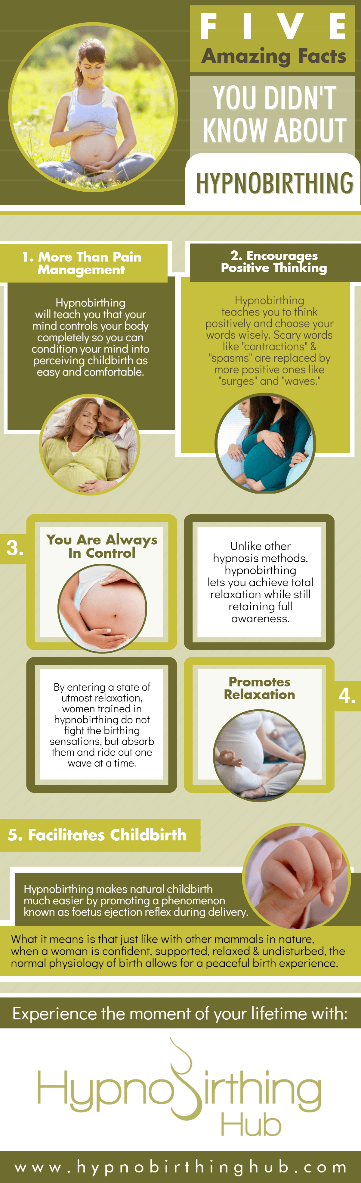 Five Amazing Facts You Didn't Know About Hypnbirthing Infographic