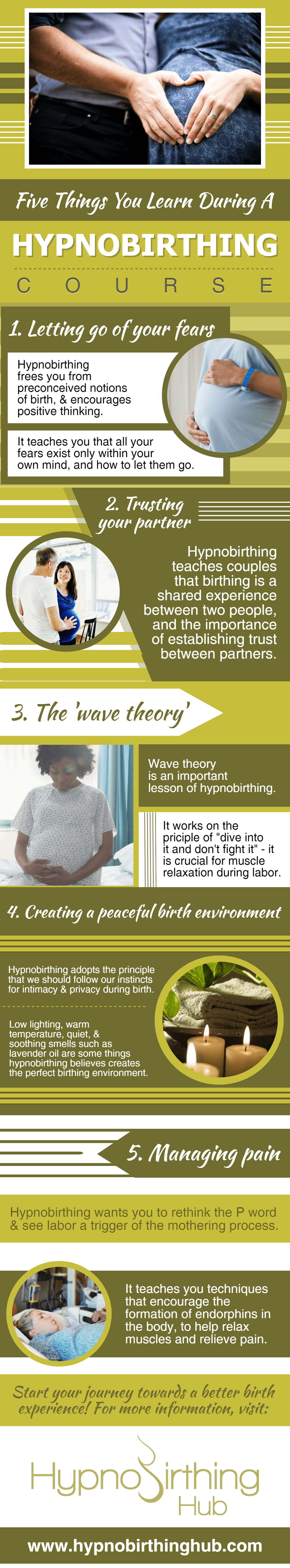 5 Things You Should Learn During A Hypnobirthing Course Infographic